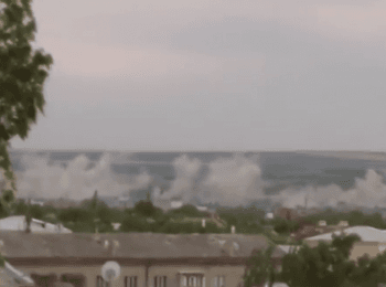 Луганск: Артобстрел жилых районов (14.07.2014)