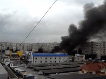 Луганск: Пожар после артобстрела жилых районов, 14.07.2014 (18+ нецензурная лексика)