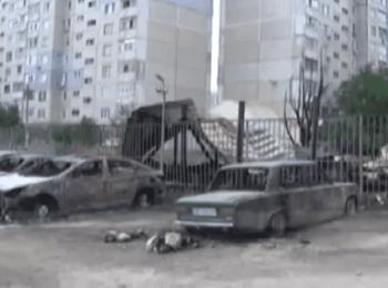 Луганск: Последствия обстрела (15.07.2014)