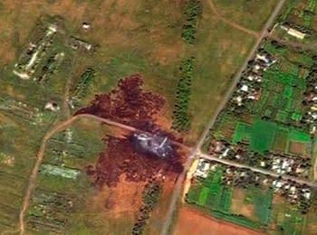 Снимки со спутника места падения Боинга 777 авиакомпании «Малайзийские авиалинии»