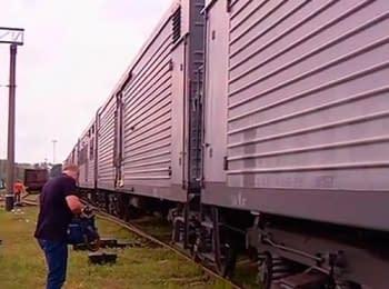 Тела погибших в катастрофе Боинга 777 авиакомпании «Малайзийские авиалинии» доставили в Харьков (22.07.2014)