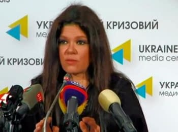 "Ruslana presenting ""Putin is the propaganda of lie"""