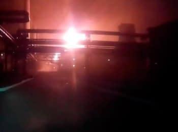 Авдеевка: Пожар на коксохимическом заводе, 22.07.2014 (18+ нецензурная лексика)