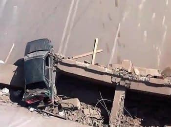 Горлівка: Підірваний міст (24.07.2014)