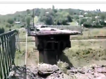 Горловка: Еще один взорванный мост (24.07.2014)