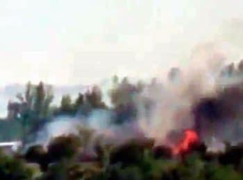 Терористи зняли відео, як вони обстрілюють позиції АТО в Луганському аеропорту (18+ нецензурна лексика)
