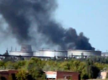 Ukrainian military storm Lysychans'k (July 24, 2014)