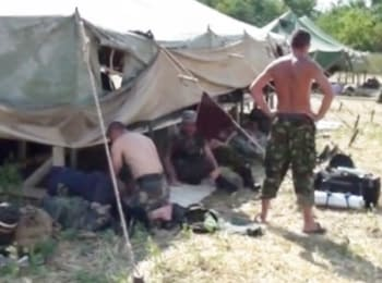 Soldiers waiting for return from Russia to Ukraine, on August 4, 2014