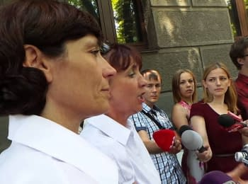Soldiers' mothers demand the end of war in Donbas, on August 5, 2014