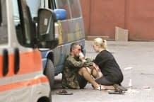 Explosion at the European Square in Kyiv, there are wounded (August 8, 2014)