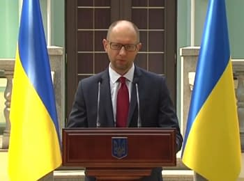 Yatsenyuk: The government initiates introduction of sanctions concerning 172 citizens of the Russian Federation and other countries