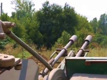 Украинский блокпост возле Горловки