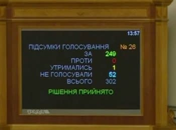 Verkhovna Rada adopted in the first reading the bill of lustration (August 14, 2014)