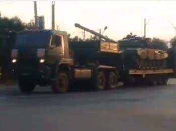 Ростовская область: Российские танки движутся в Украину (18+ нецензурная лексика)
