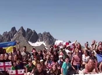 Грузинская молодежь сняла клип в поддержку Украины