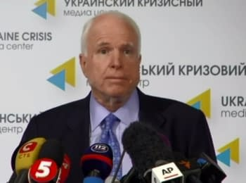 McCain in Kyiv called for new sanctions against Russia to stop Putin
