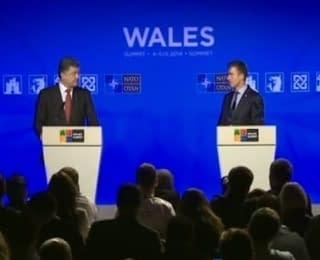 Пресс-конференция Порошенко и Расмуссена (04.09.2014)