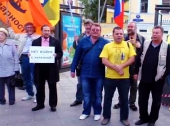 Reaction of Muscovites on the picket against war with Ukraine (18+ Explicit language)