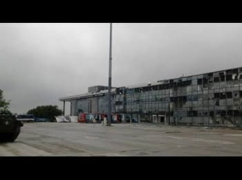 Pro-Russian terrorists storm the airport in Donetsk, 27.09.2014