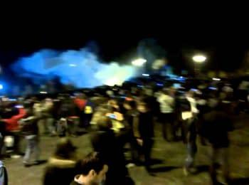 Падение памятника Ленину в Харькове, 28.09.2014