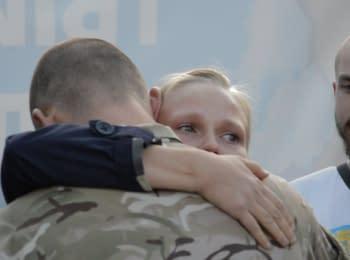 Черкасских бойцов «Азова» провожали на Восток, 29.09.2014