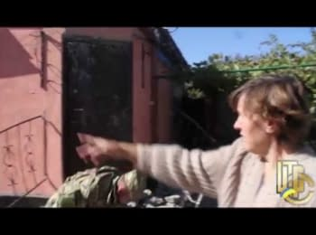 Debaltseve. The shelling of residential areas, 03.10.2014