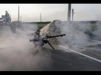 Terrorists are storming the airport in Donetsk, part 3
