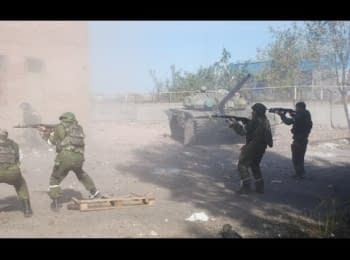 Terrorists are storming Donetsk airport. Part 4