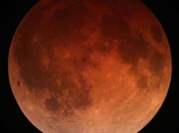 NASA. Місячне затемнення, 8 жовтня 2014