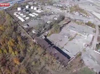 Зруйнований аеропорт Донецька - з висоти пташиного польоту, 13.10.2014