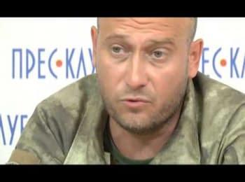 Press conference by Dmitry Yarosh in Lviv, 17.10.2014