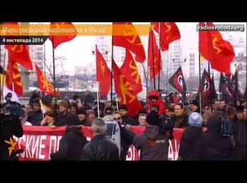 Russian March in Moscow against the war with Ukraine