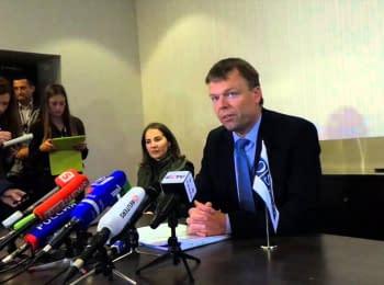 Брифинг заместителя начальника специальной мониторинговой миссии (СММ) ОБСЕ в Украине Александра Хуга