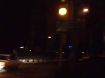 Макіївка. Колона бронетехніки бойовиків, 13.11.2014