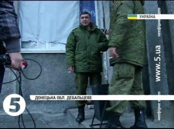"""Журналісти """"5 каналу"""" виявили офіцерів РФ в Дебальцевому"""