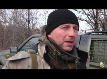 Block-post of the ATO forces between the Lisichansk and Severodonetsk