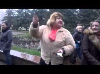 Пророческие слова проукраинской жительницы Горловки, 14.04.2014