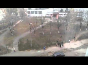 """Banderivskiy"" Kharkiv: schoolchildren and the anthem of Ukraine"