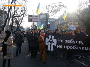 In Odessa, the people honored the Holodomor victims