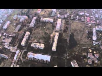 Pisky village. Terrorists explore positions of the Armed Forces of Ukraine using UAV