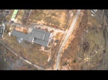 Ukrainian UAV hunts at the militants tank