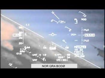 Збройні сили Норвегії опублікували відеозапис небезпечного зближення російського МіГ-31 з норвезьким винищувачем F-16