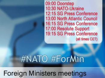Зустріч міністрів закордонних справ України і НАТО