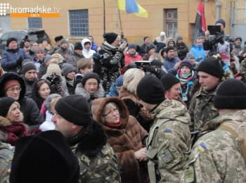 Odessa residents sent-off marines into the ATO zone