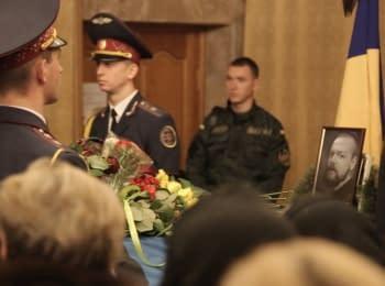 "Farewell to a fallen soldier of the ""Azov"" Battalion Igor Biloshytskiy in Kiev"