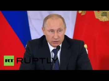 Десята щорічна прес-конференція Путіна, 18.12.2014