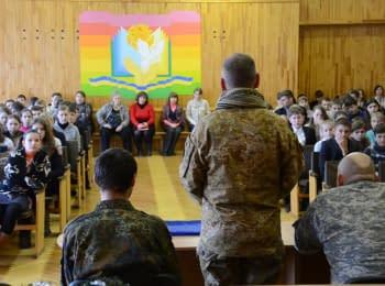 """""""Ми зробимо все, щоб скоріше закінчити війну"""" – бійці батальйону """"Київ-2"""" на зустрічі зі школярами"""