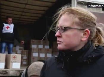 Humanitarian aid of the Red Cross in Stanytsia Luhanska
