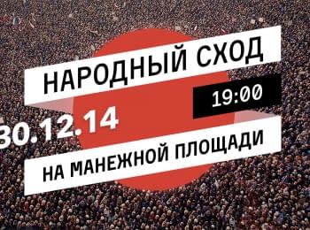 Народні збори на Манежній площі Москви, 30.12.2014