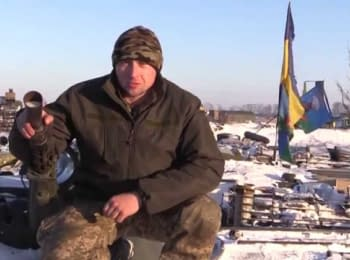 """""""Cyborg"""" and soldiers of the ATO greets Ukraine with New Year 2015!"""